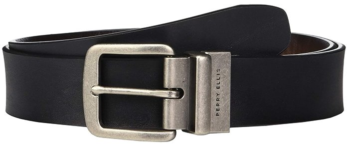 Keep your belt simple and understated like this Perry Ellis reversible belt