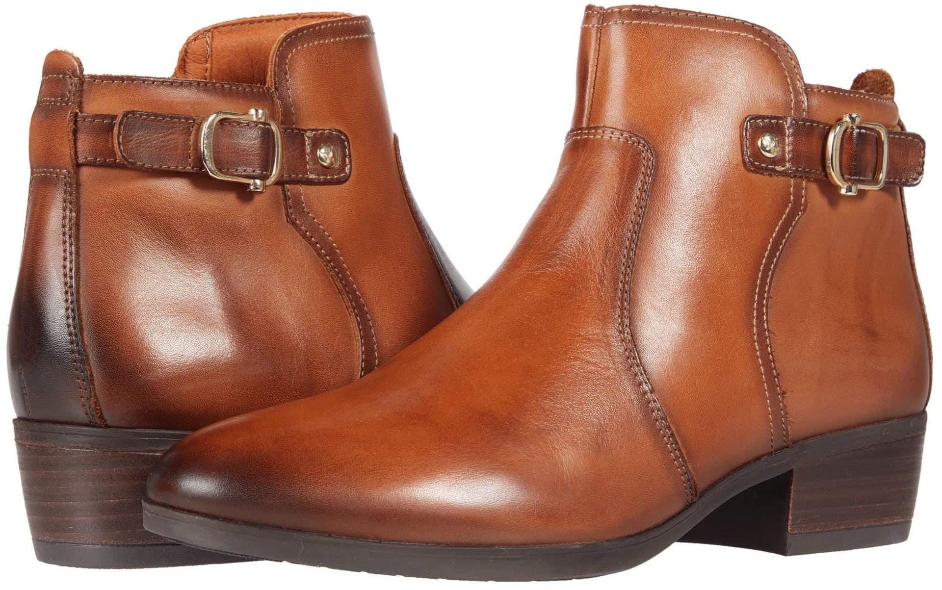 Keep your ankle jeans near to show off these fabulous booties in a luxe calfskin leather upper