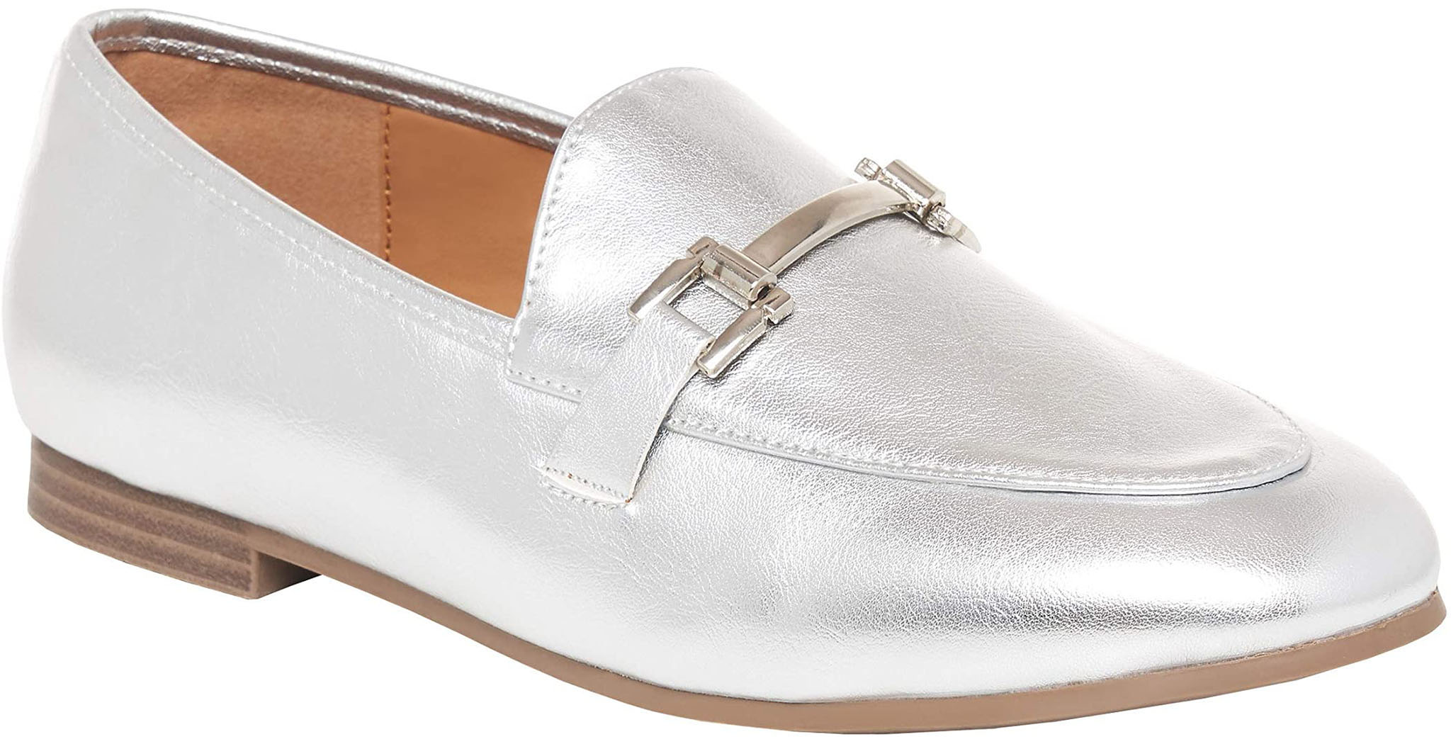 Add instant glamour to your little white dress with the Rohb by Joyce Azria Shira synthetic leather loafers