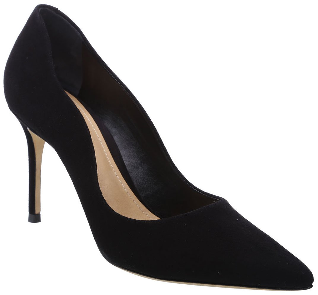 Give your masculine dress a touch of feminine glam with Schutz Analira scalloped pumps
