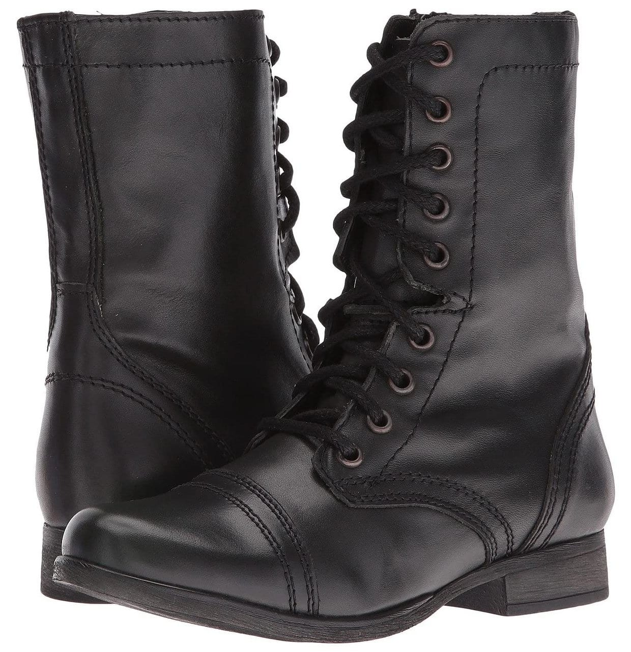 The military-inspired Steve Madden Troopa boot is one of the brand's most popular styles