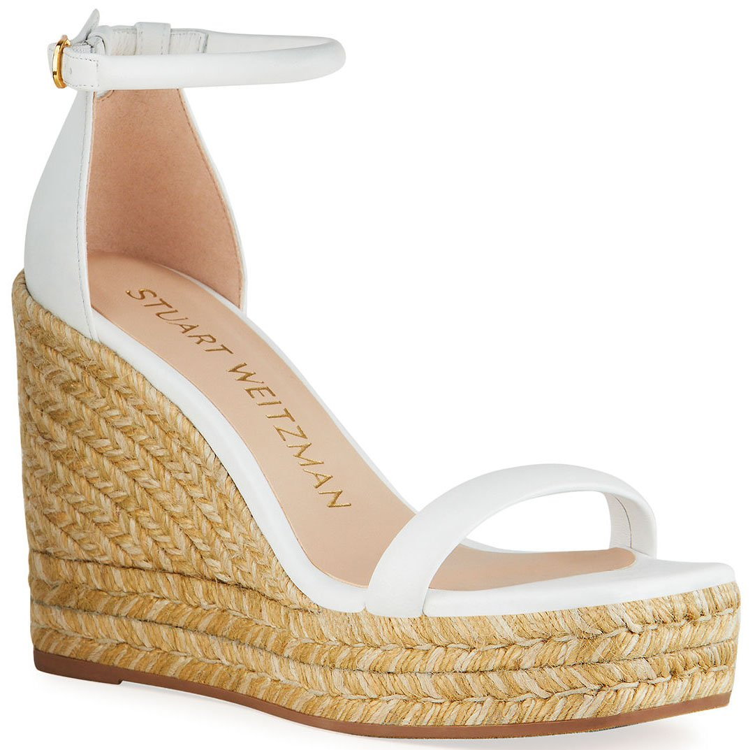 Seamlessly transition your outfit from day to night with summer's espadrille wedge sandals