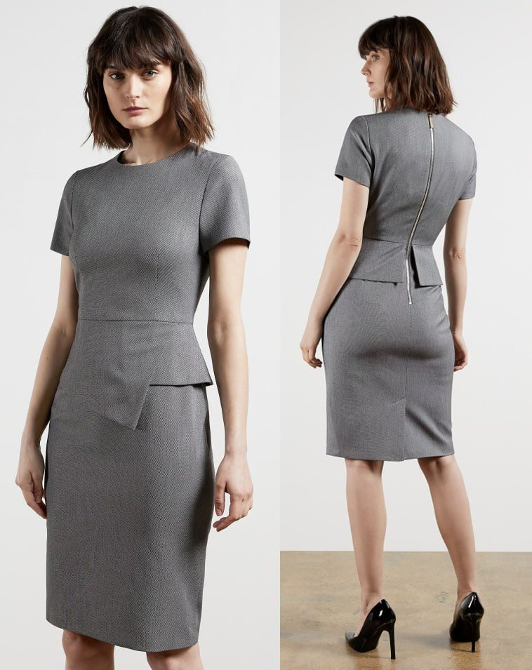 The British luxury clothing company has a large selection of classic but chic office dresses