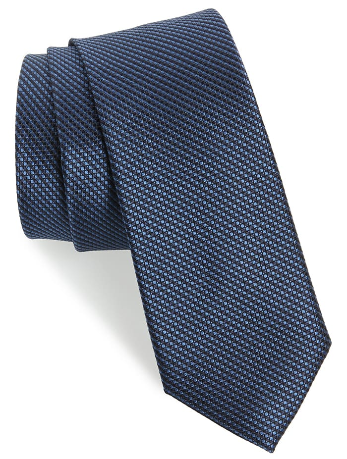 Don't forget to add a simple tie that would match your suit of shirt