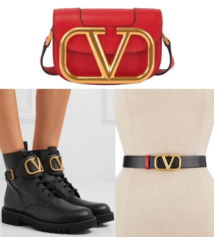 Valentino's accessories collection featuring the signature reversible V logo