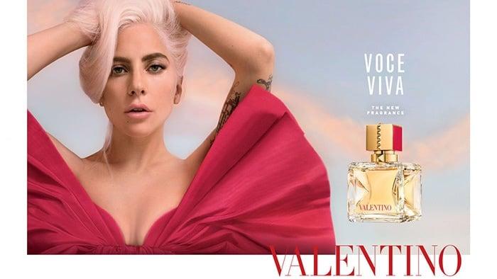 Lady Gaga as the ambassador for Valentino's new fragrance Voce Viva