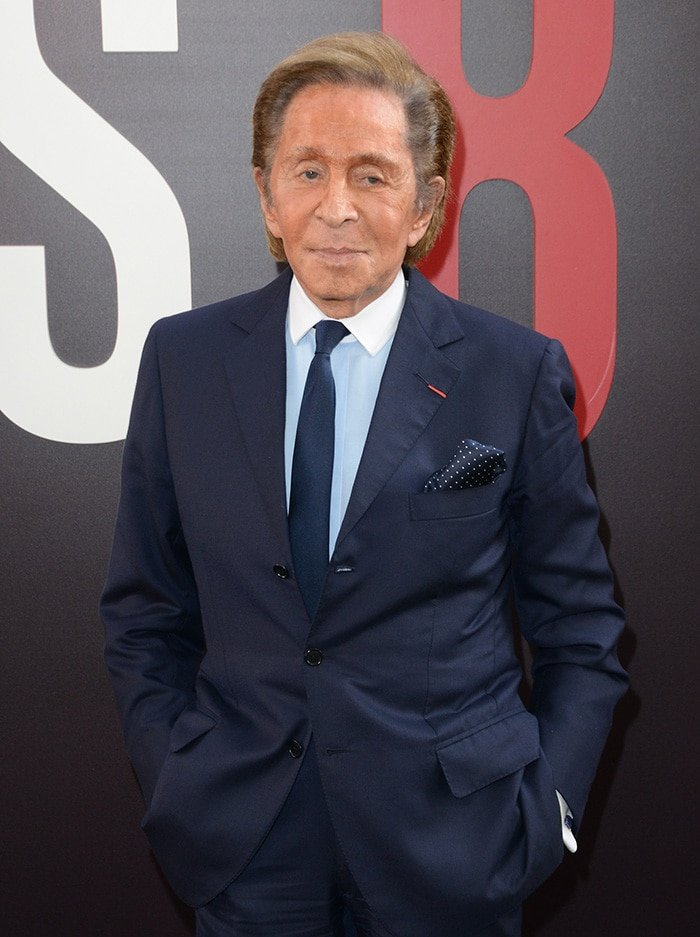 Valentino Garavani, pictured in 2018 at the Ocean's 8 world premiere, founded Italian luxury fashion house in 1960