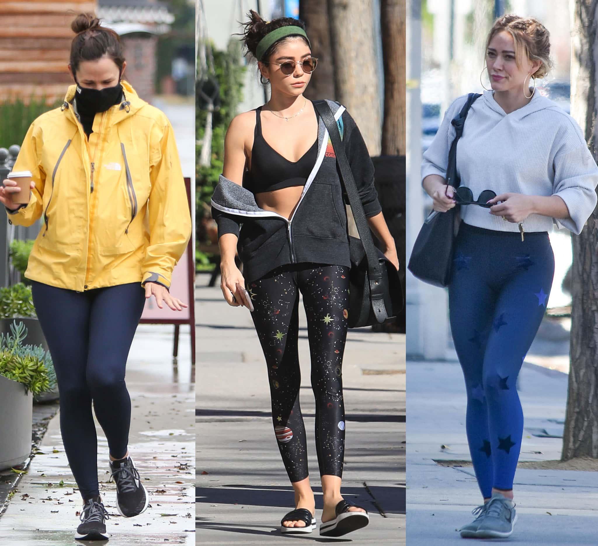 Jennifer Garner, Sarah Hyland, and Hilary Duff go for athleisure looks in leggings