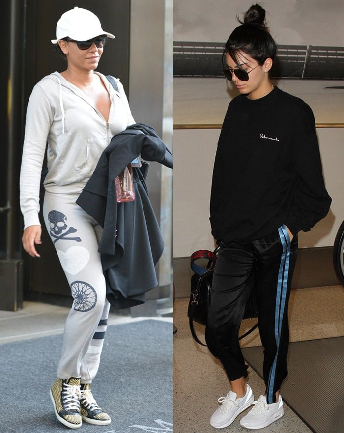 Mel B. and Kendall Jenner style their jogger pants with a hoodie and a sweatshirt