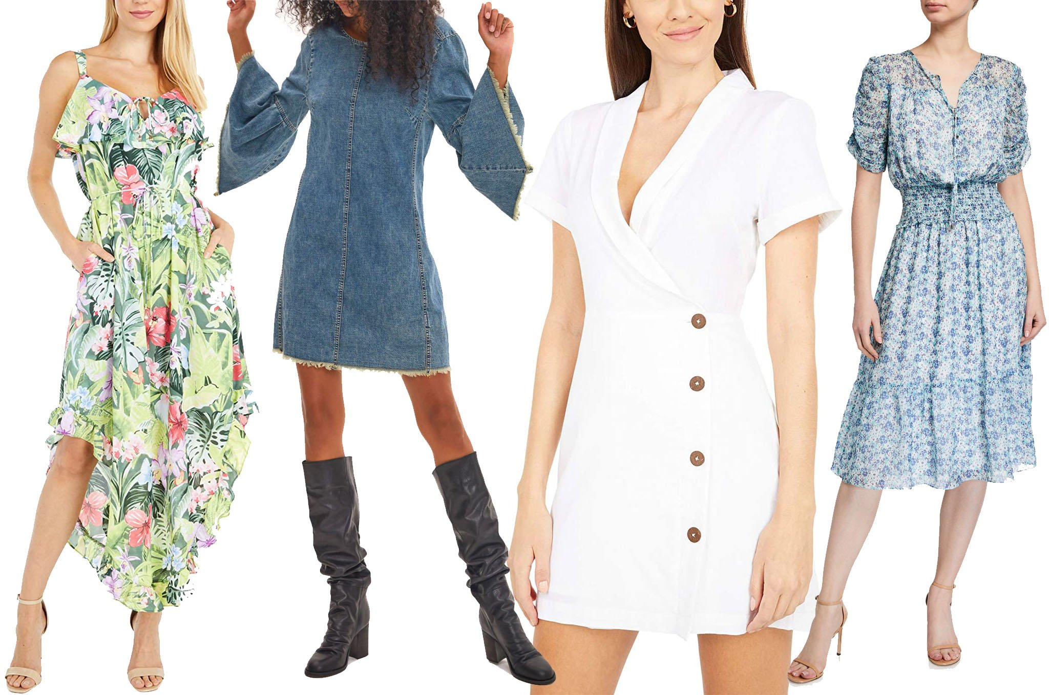 Floral, denim, white, and midi—these are just some of the most popular dress styles for summer