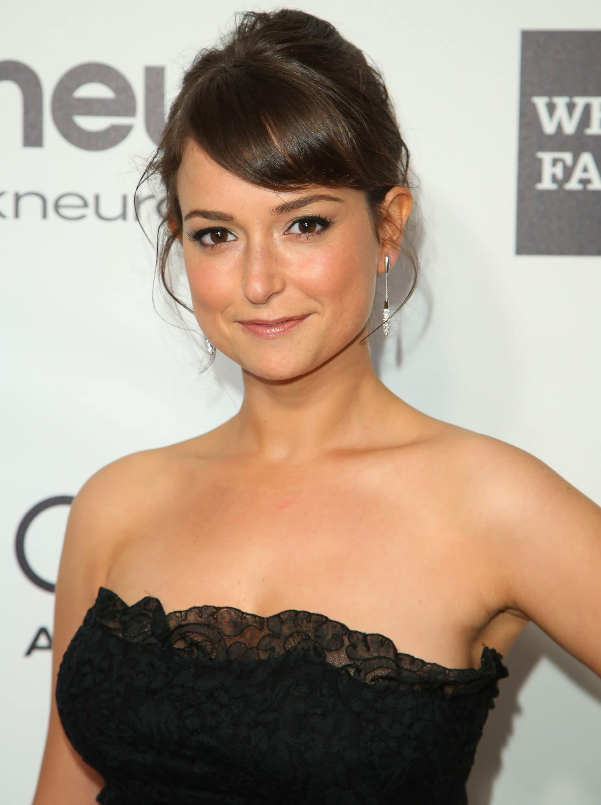 Actress Milana Vayntrub attends the 22nd Annual Elton John AIDS Foundation's Oscar Viewing Party