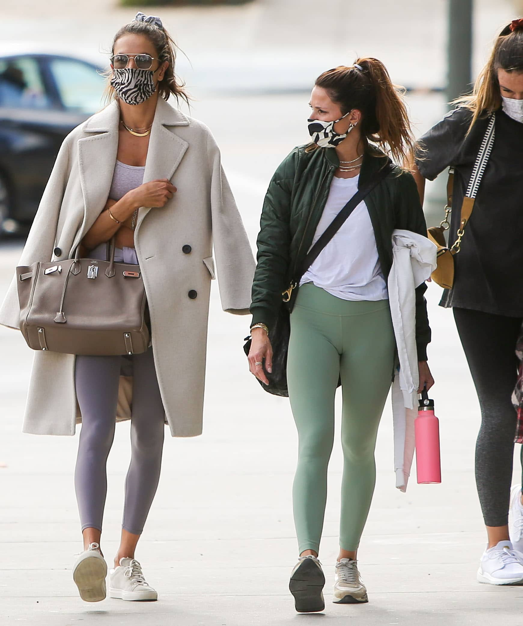 Alessandra Ambrosio steps out for Pilates with her girl pals in Los Angeles on March 10, 2021
