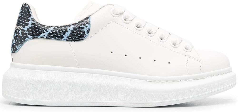 You can get the Alexander McQueen Oversized Sole sneakers in different heel counter color versions