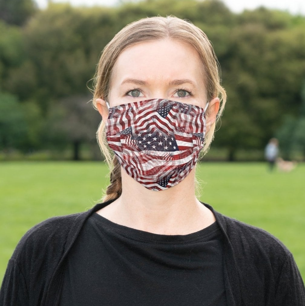 Help slow the spread of the virus with this American flag face covering that features upgraded, adjustable ear loops and nose wire to ensure a great fit
