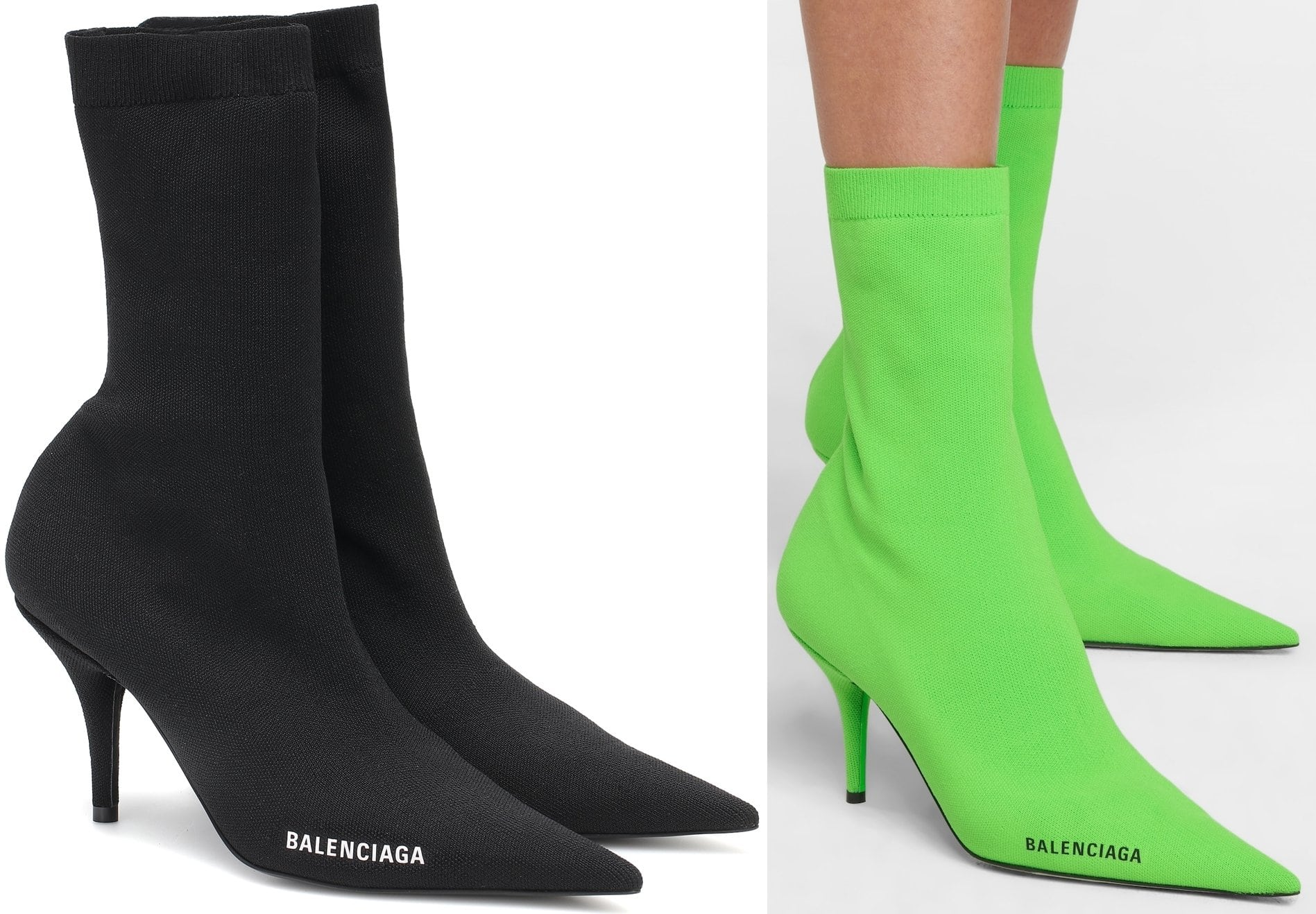 A fashion favorite since 2017, Balenciaga's Knife boots continue to fascinate with their exaggerated point toes and razor-sharp profile
