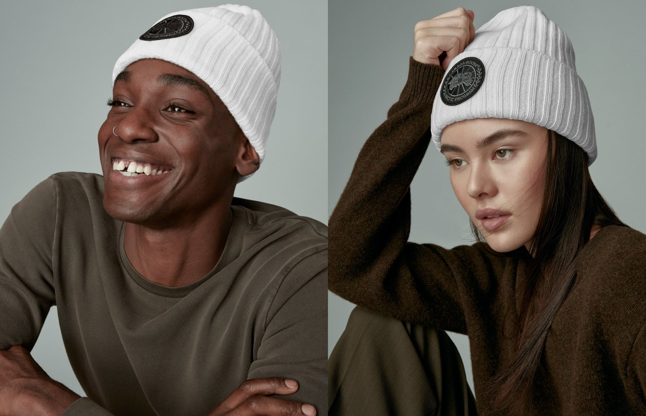 This Canada Goose Black Label disc toque is crafted in Italy with 100% Merino wool for maximum warmth and softness