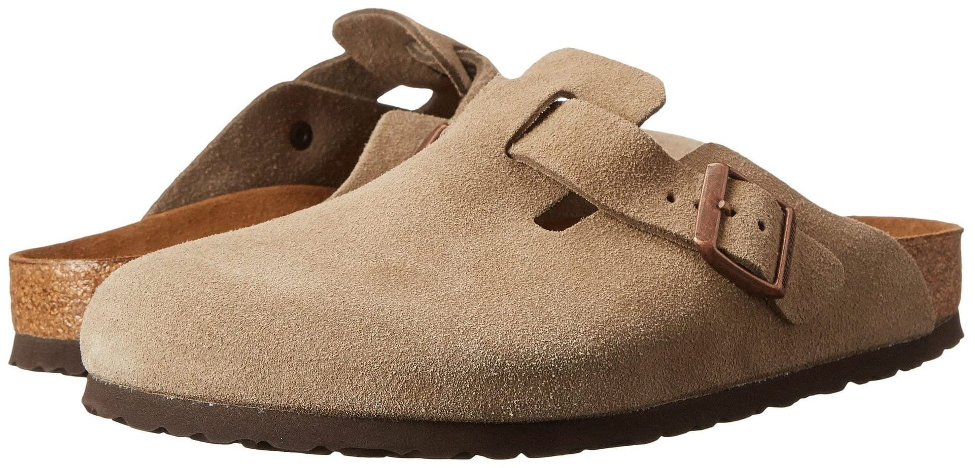 A pair of comfortable clogs, the Birkenstock Boston features a soft footbed with an adjustable strap for a perfect fit