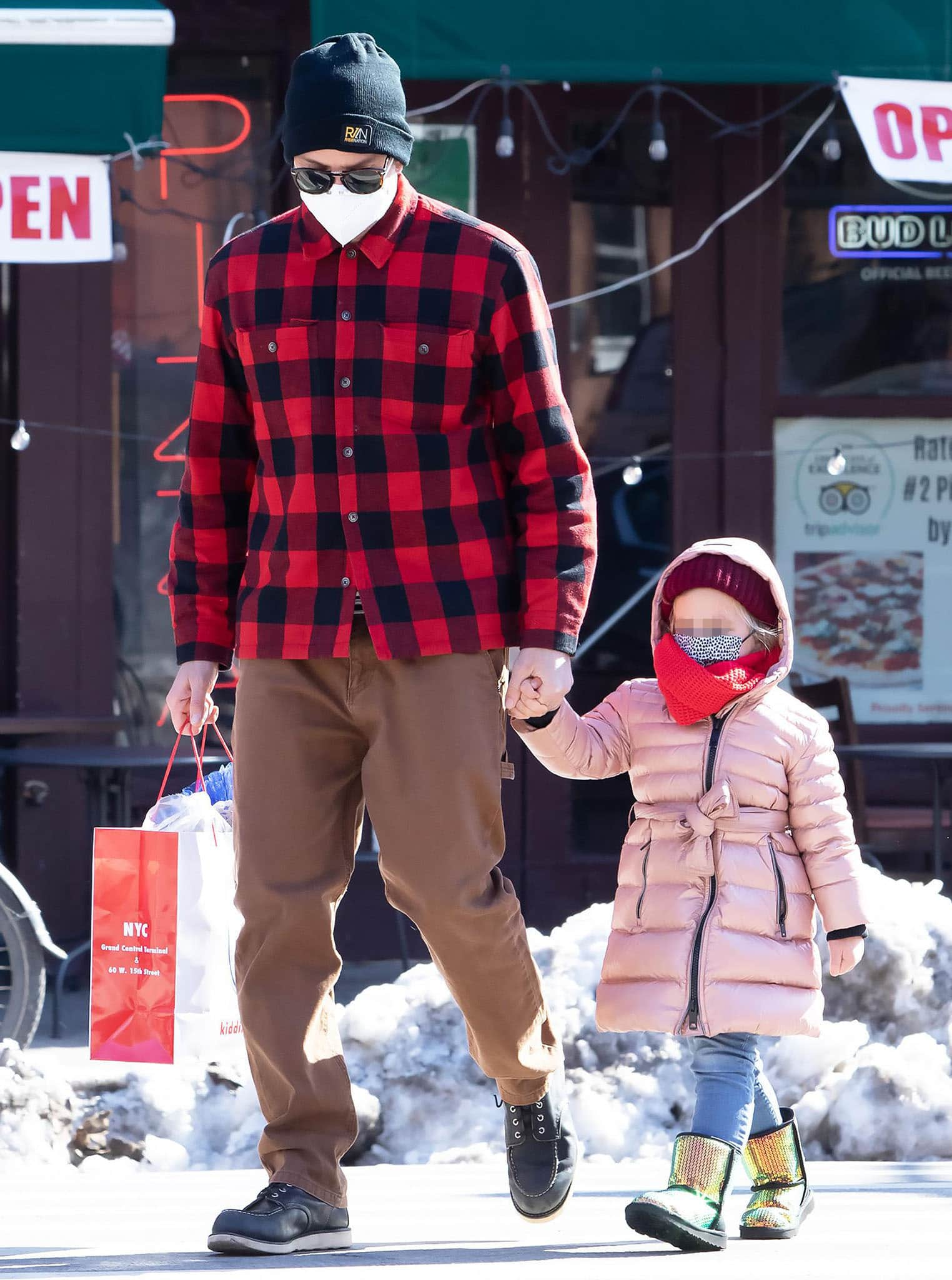 Bradley Cooper bonds with his daughter in a checkered shirt on February 10, 2021