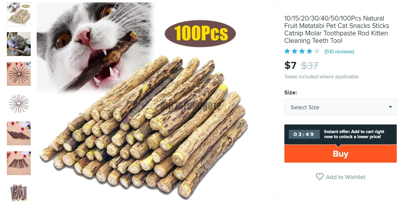 Chewing toys for cats that supposedly are good for oral health care
