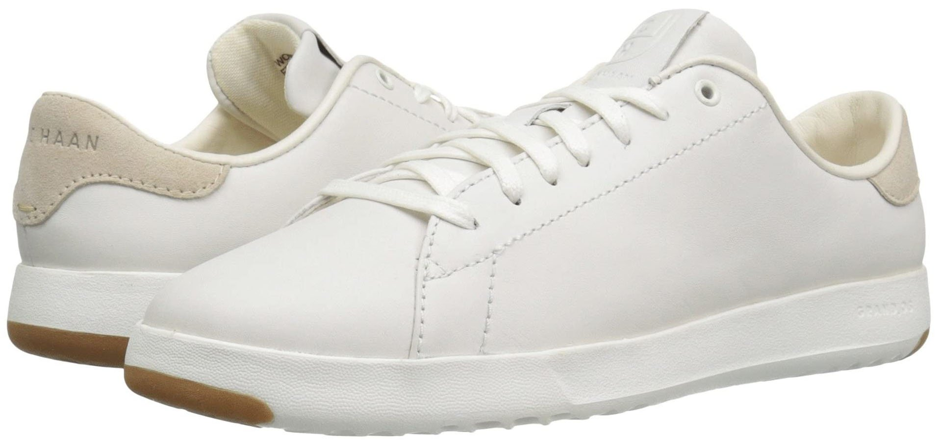 Cole Haan's GrandPro Tennis sneakers are a classic with a smooth leather upper and rubber sole