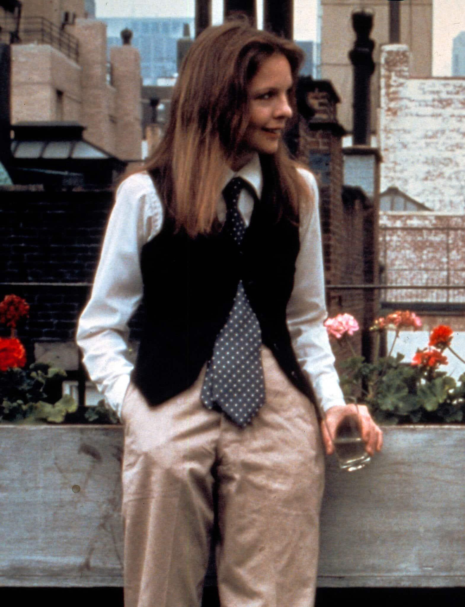 Diane Keaton wearing Ralph Lauren in the 1977 Woody Allen movie Annie Hall