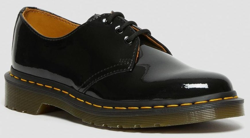 The 3-eye 1461 shoe with the shine of quality patent leather — made from fine-grained leather that is coated to give a high-shine, glossy finish