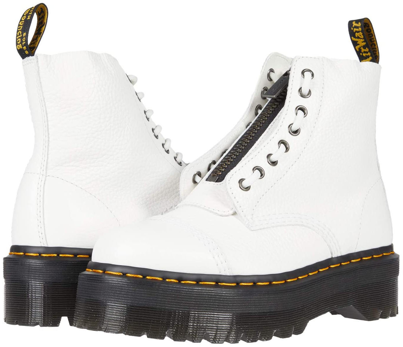Update your look with the modern military-style Dr. Martens Sinclair boots