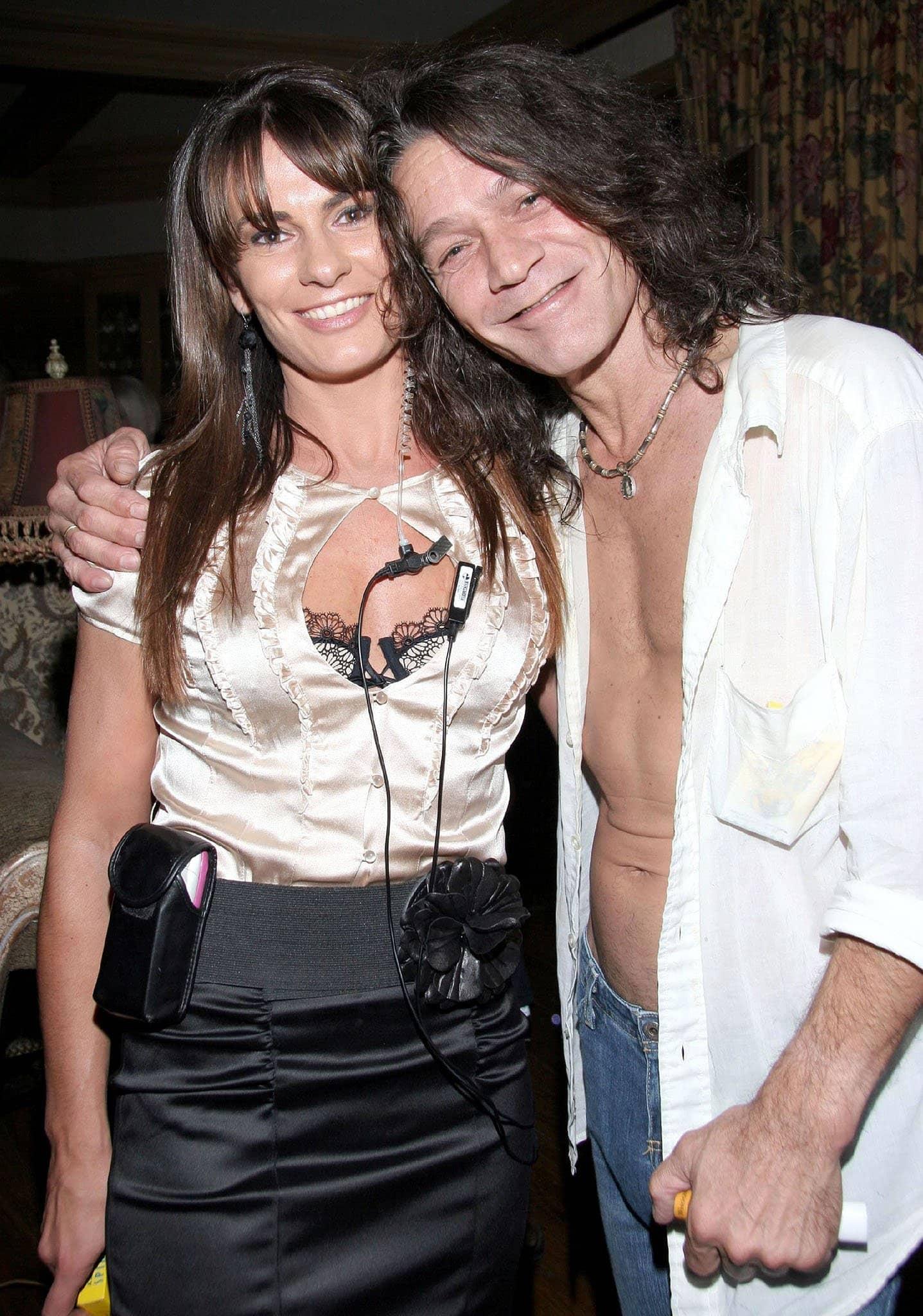 Eddie Van Halen and Janie Liszewski, pictured in 2006, tied the knot in 2009