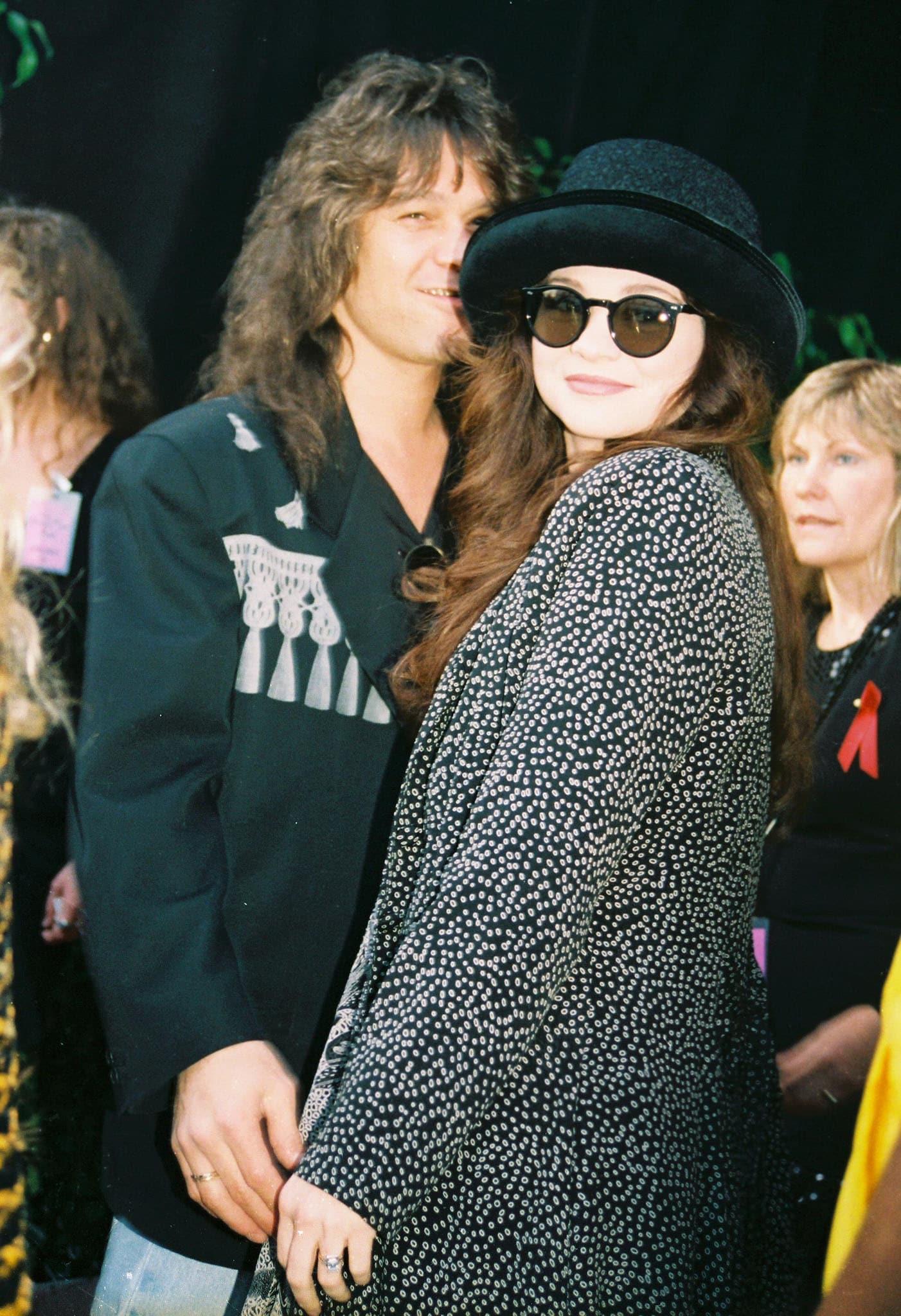 Eddie Van Halen and sitcom star Valerie Bertinelli, pictured in 1992, met at a Van Halen concert in Louisiana in 1980