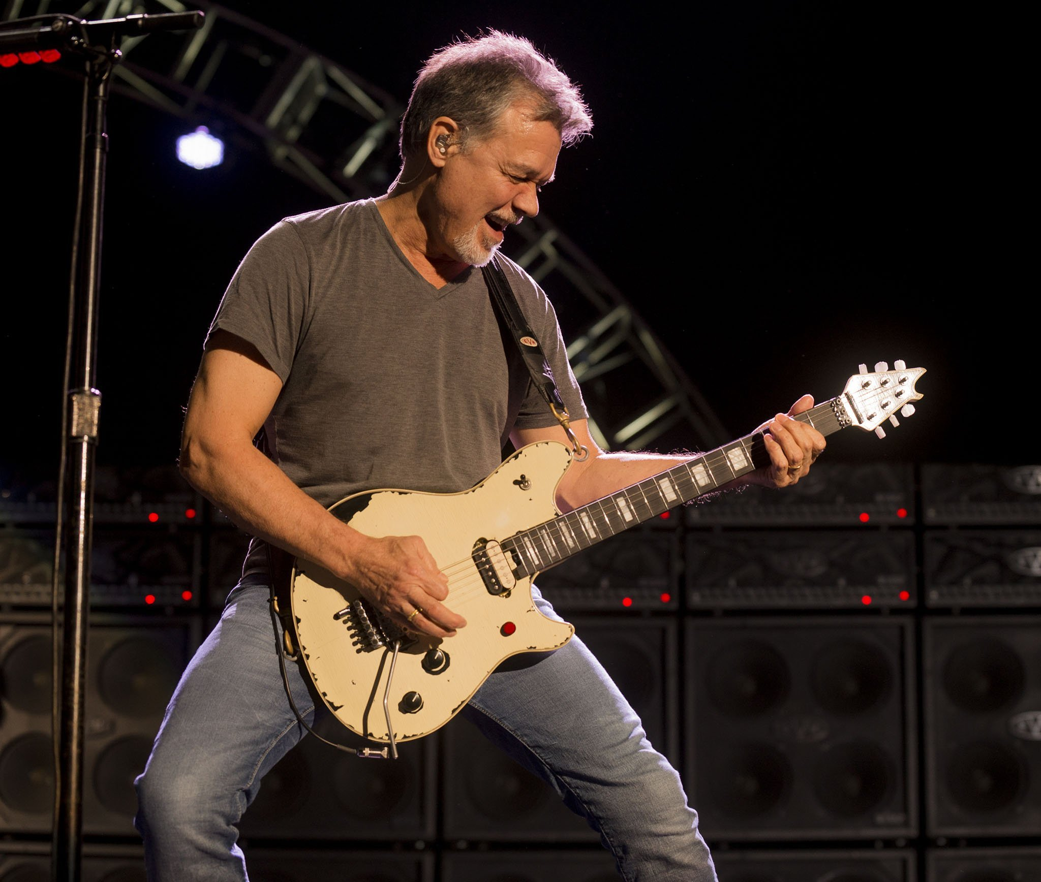 The late Eddie Van Halen, pictured in 2015, was diagnosed with tongue cancer in 2000