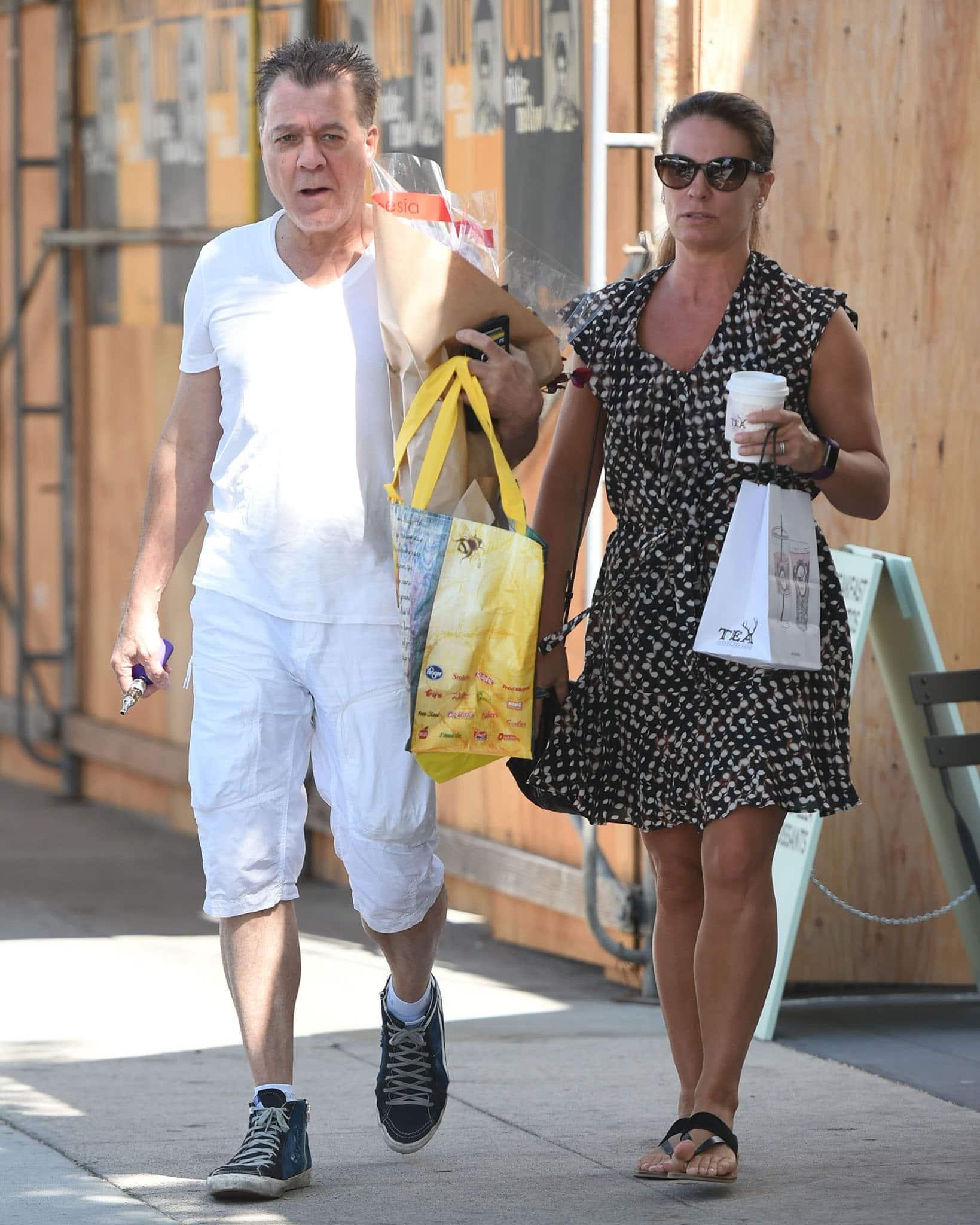 Eddie Van Halen and Janie Liszewski, pictured in 2017, met when Janie worked as Eddie's publicist