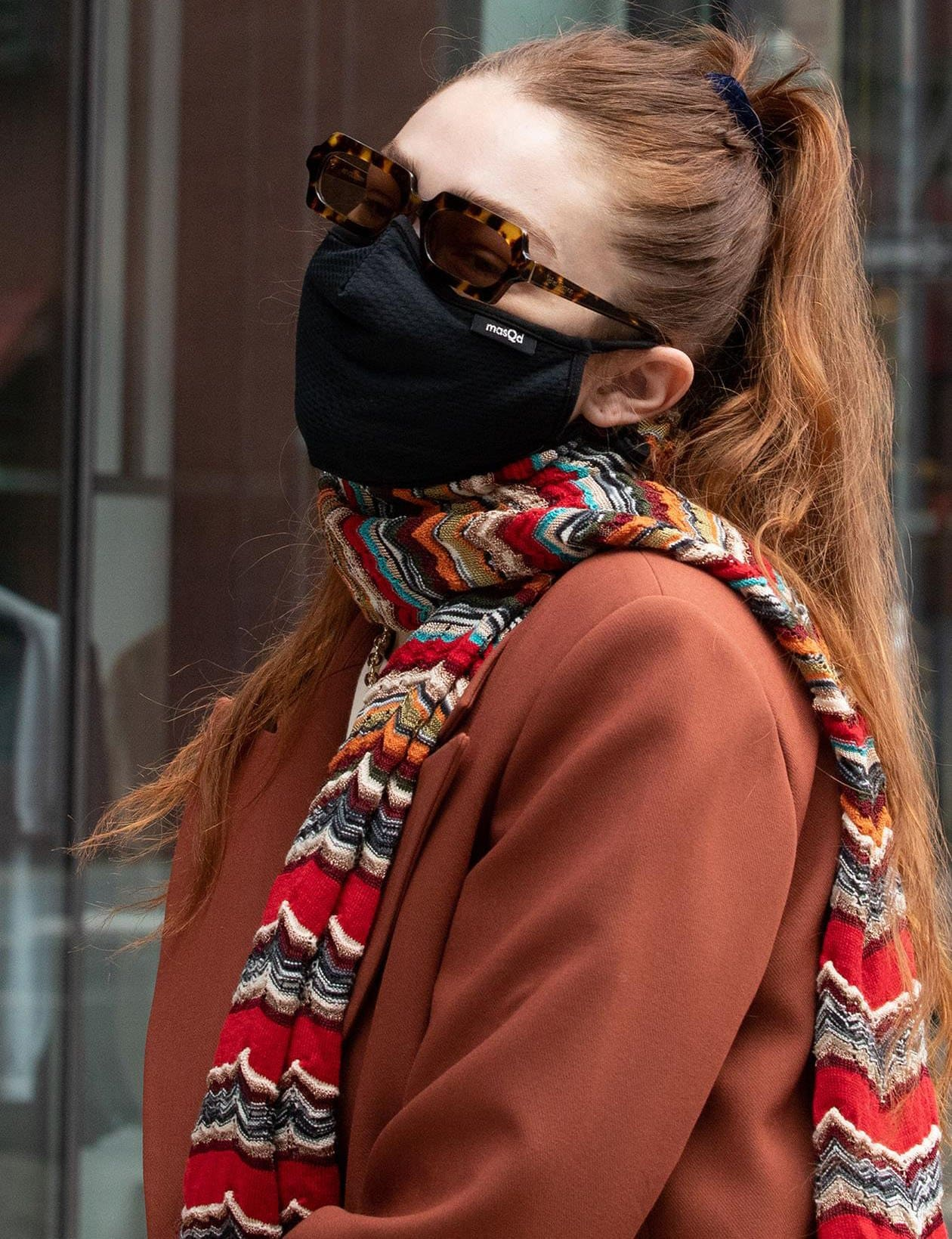 Gigi Hadid keeps a low profile with Velvet Canyon sunglasses and Masqd face mask