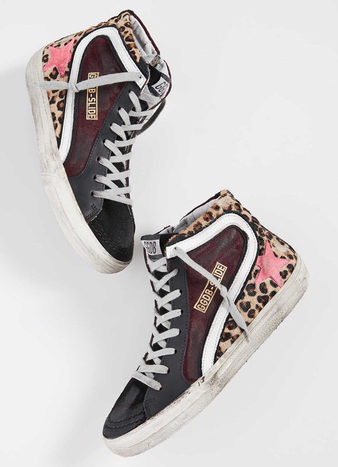 These Golden Goose high-tops are crafted from haircalf, suede and leather materials