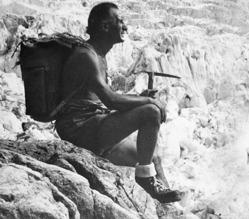 Italian mountaineer Vitale Bramani created the world's first rubber lug sole