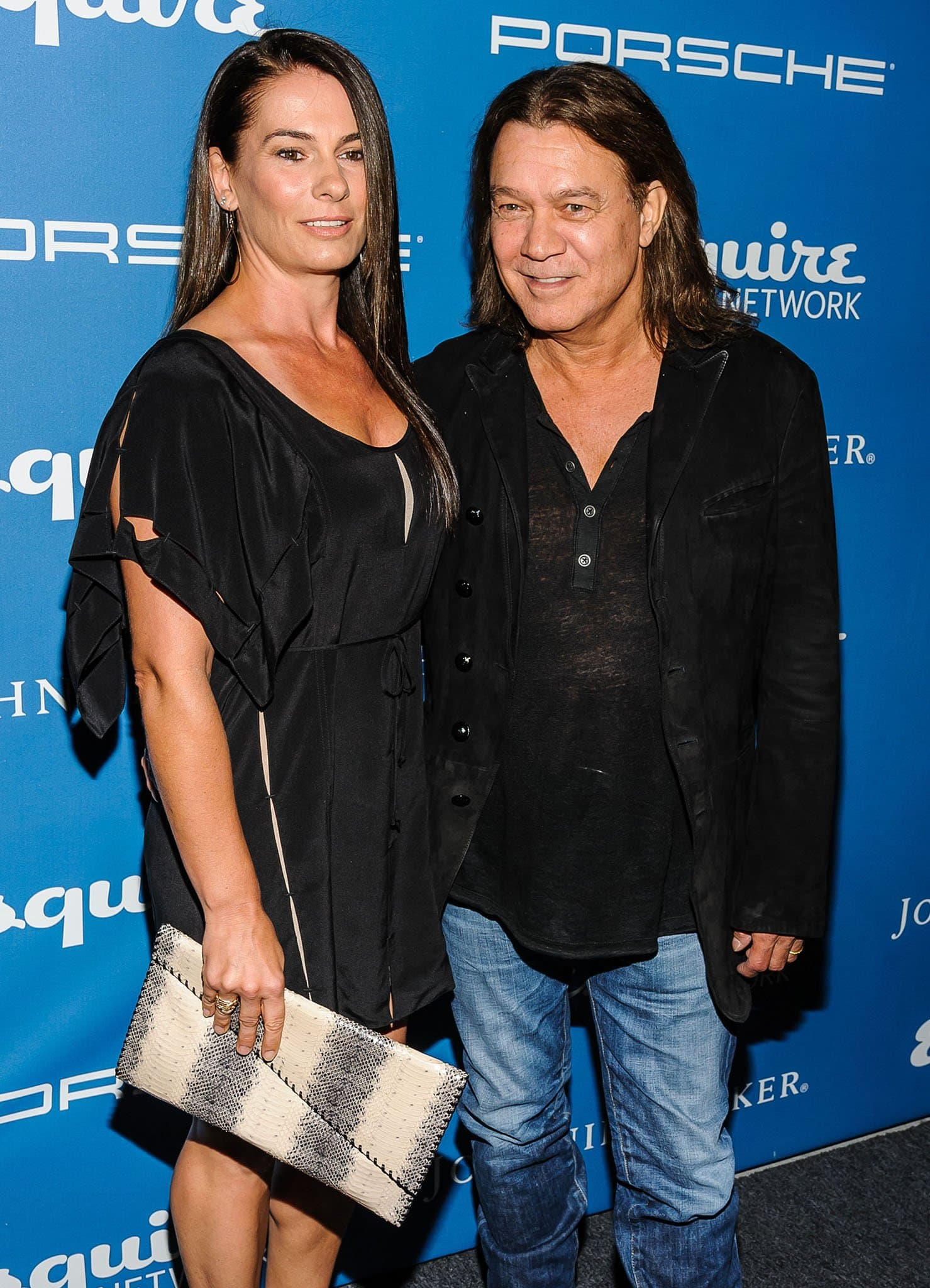 Janie Liszewski and the late Eddie Van Halen pictured at the Esquire 80th Anniversary and Esquire Network launch celebration on September 17, 2013