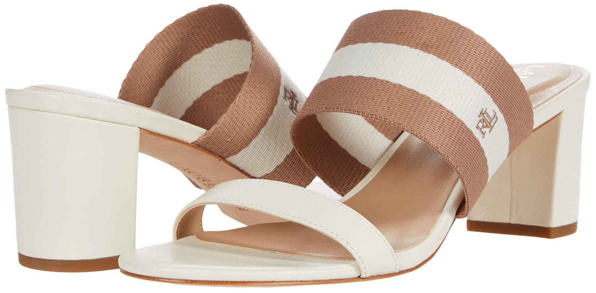 Aside from navy, the Ralph Lauren Whitfield sandals are also available in vanilla/nude colorway