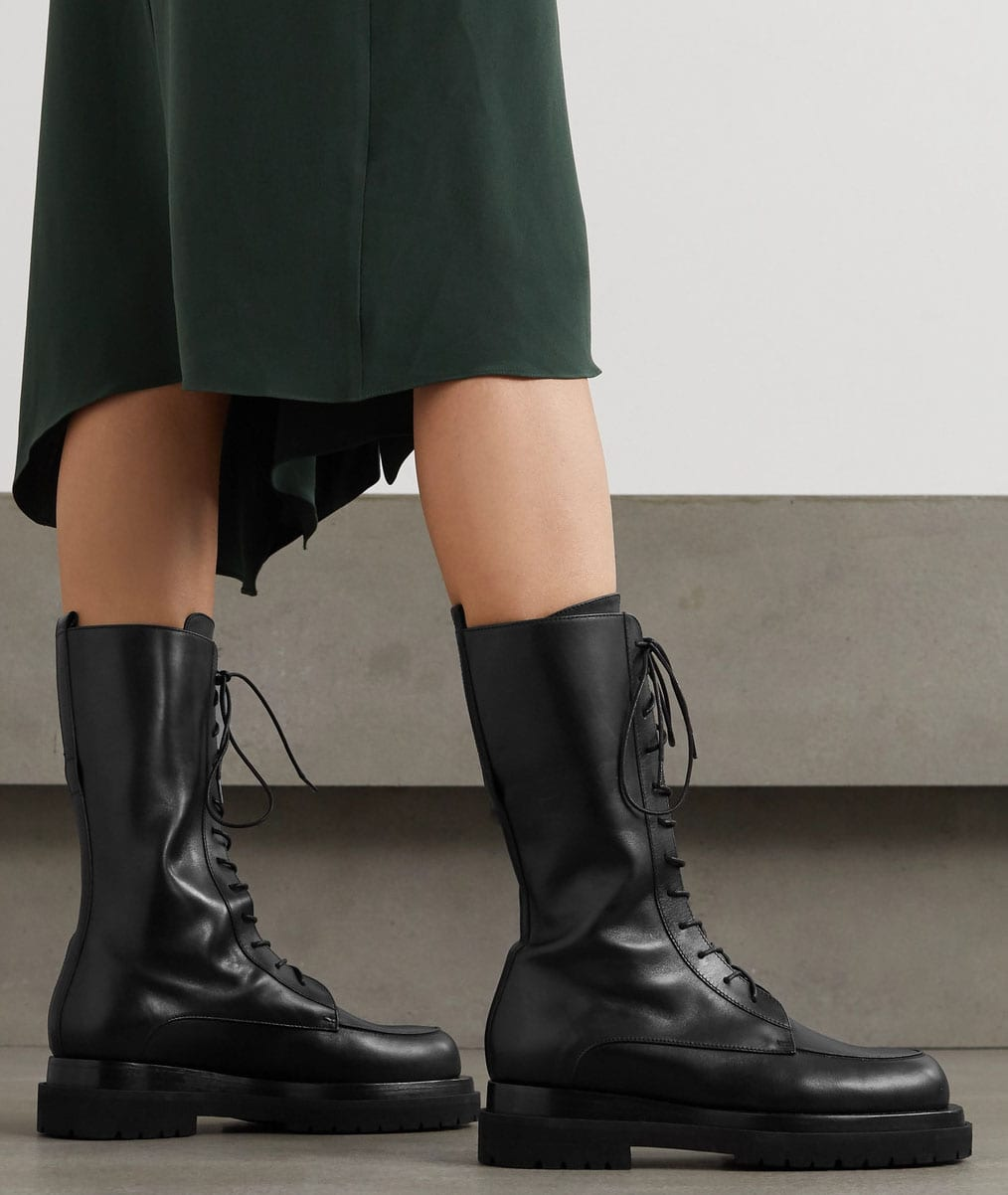 These chunky boots are also available in mid-calf length