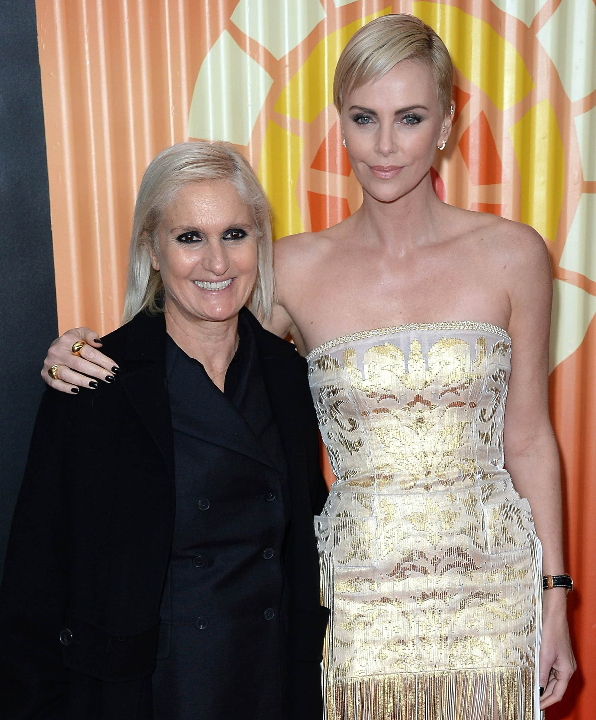 Photographed with Charlize Theron, Maria Grazia Chiuri was appointed the creative director of Dior in July 2016