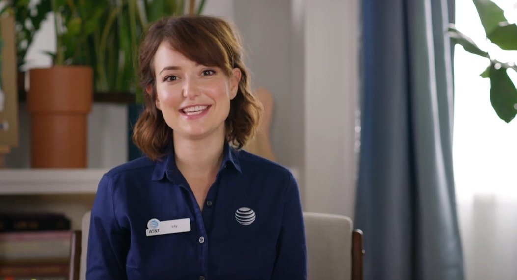 Milana Vayntrub became famous in AT&T television commercials as saleswoman Lily Adams