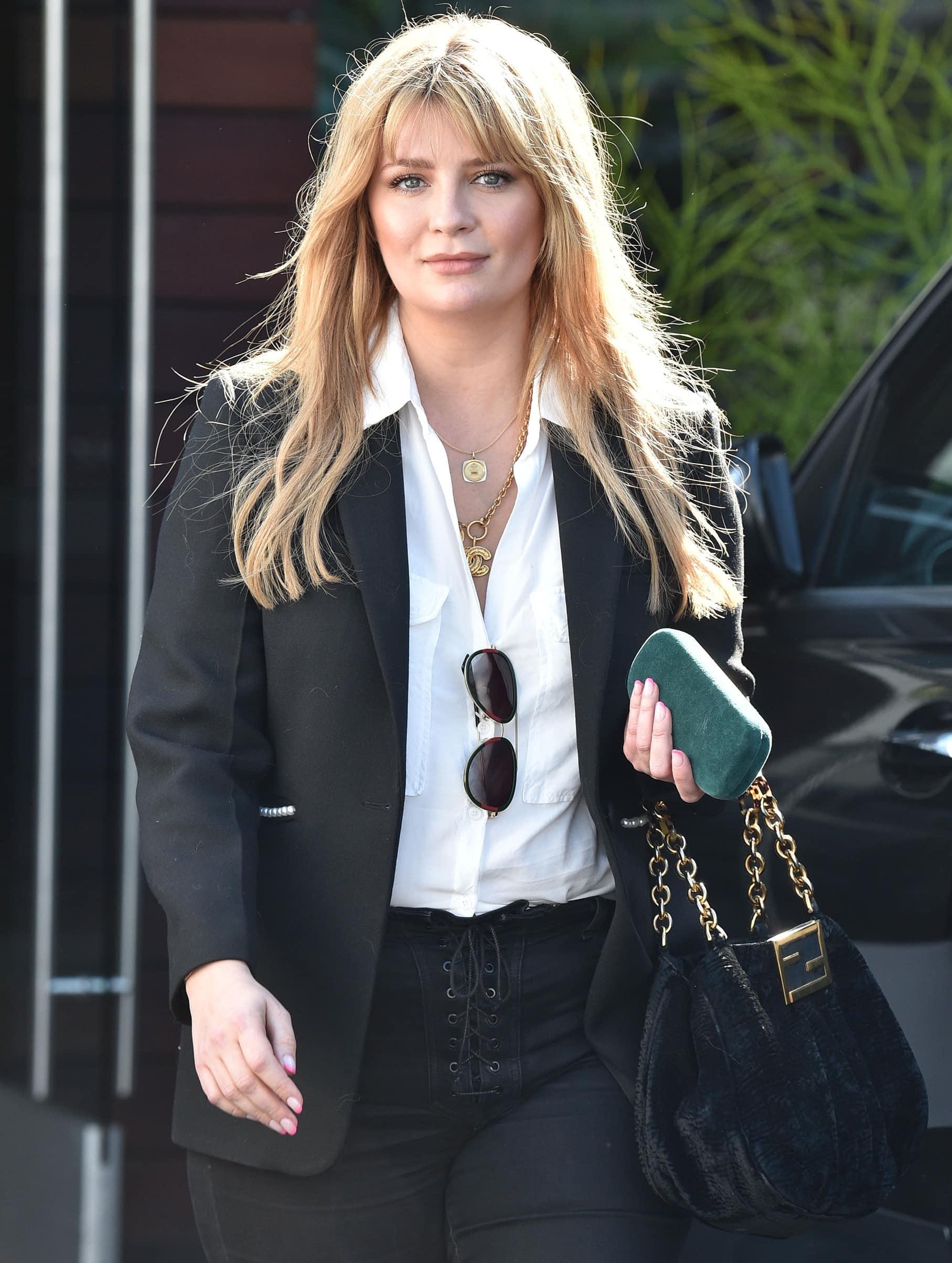Mischa Barton leaving a meeting in Santa Monica