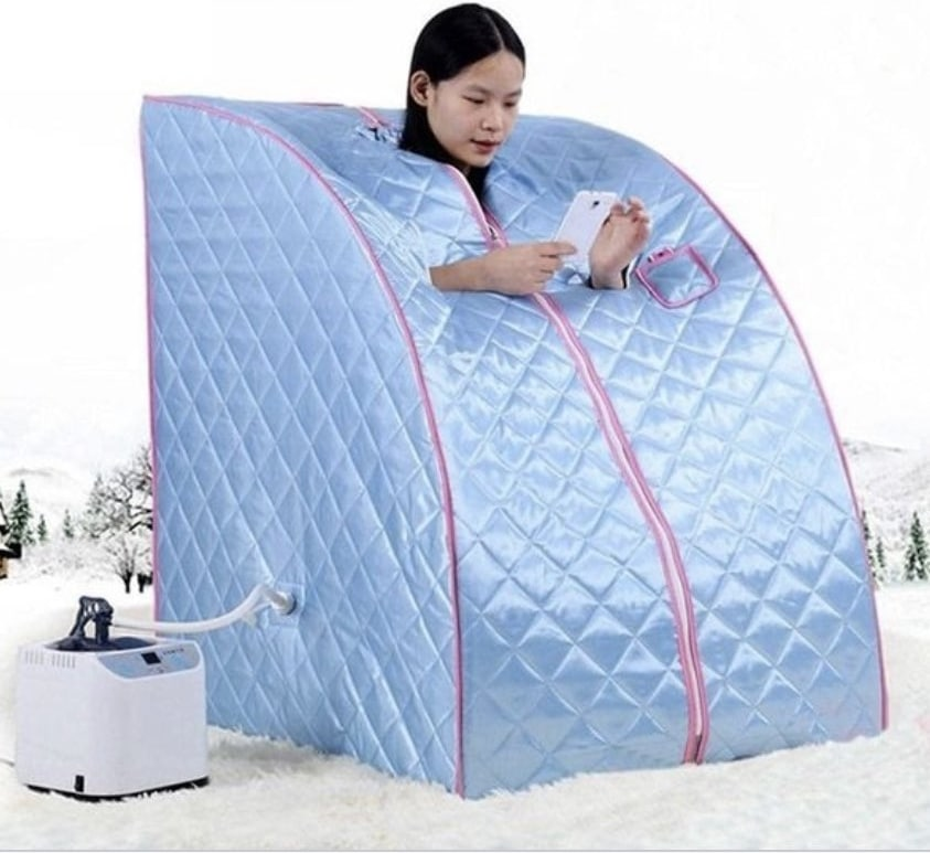 Mobile home steam sauna for personal relaxation sold on Wish shopping app