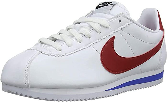 A classic favorite, the Nike Cortez has a foam midsole for comfort and a rubber outsole with a herringbone pattern for traction