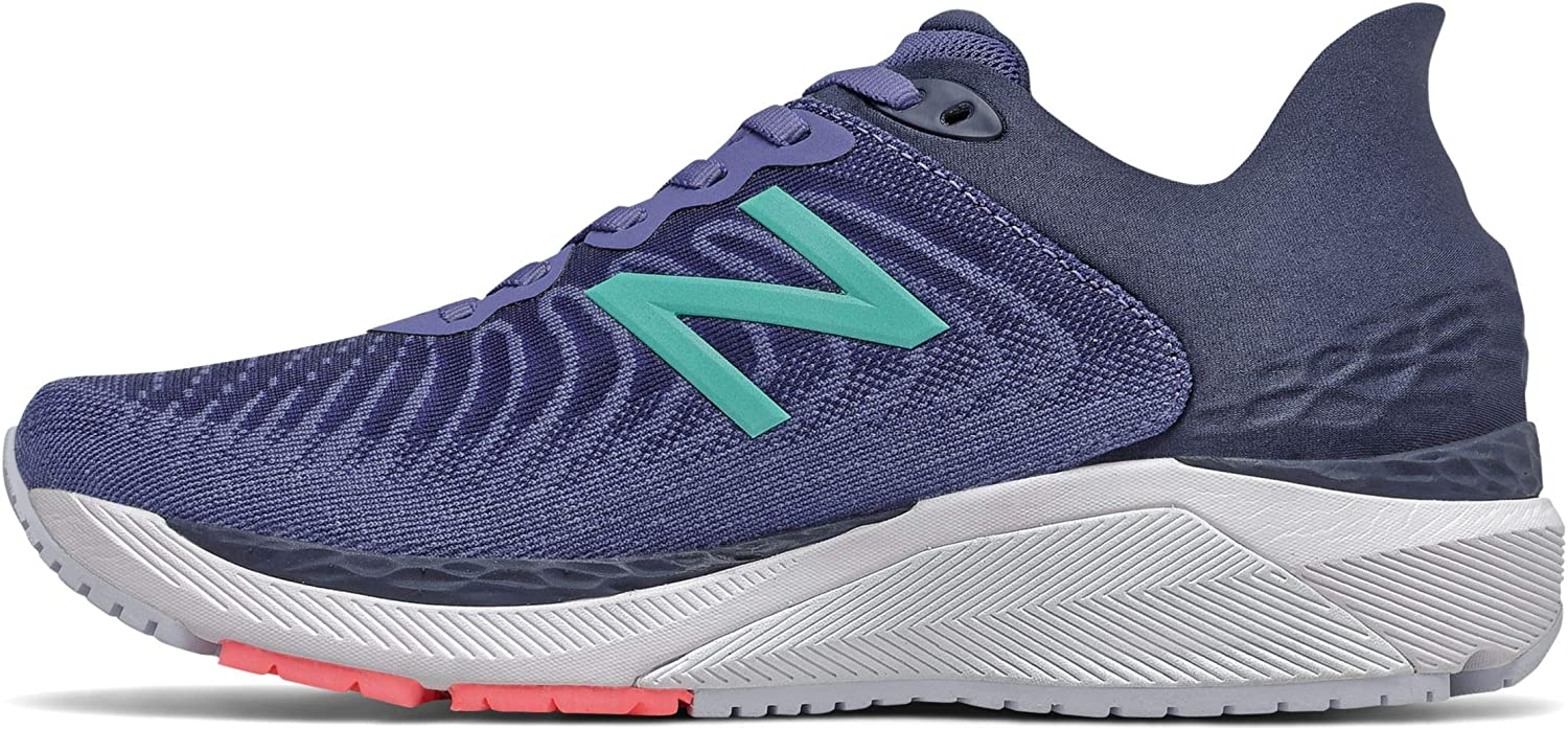 A light and comfortable running shoe made from synthetic and mesh with a foam sole