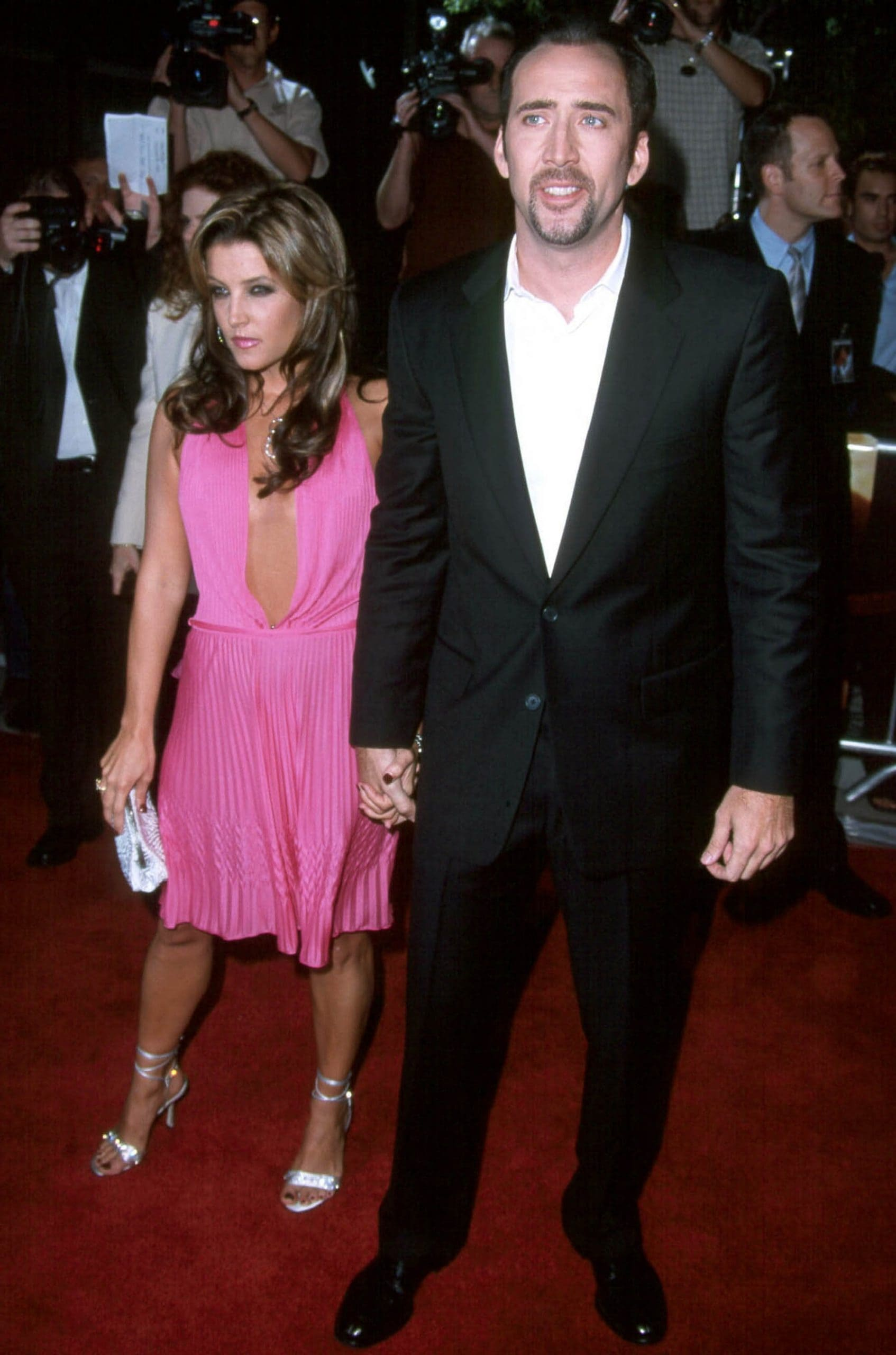Nicolas Cage and Lisa Marie Presley were married for a total of about three and a half months in 2002