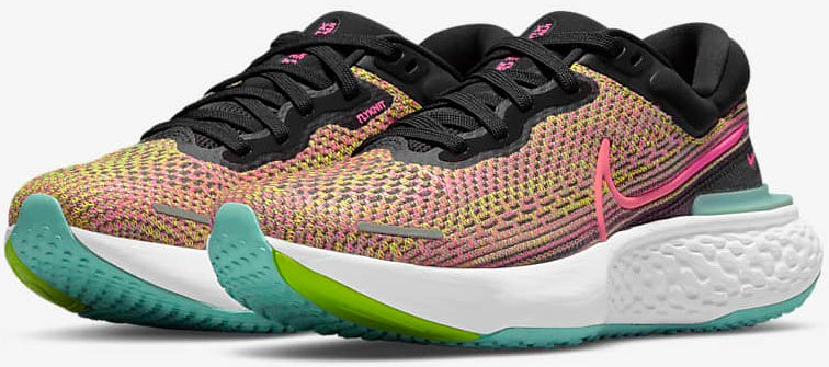 The ZoomX Invincible Run Flyknit features a lightweight and responsive foam with Flyknit upper for breathability