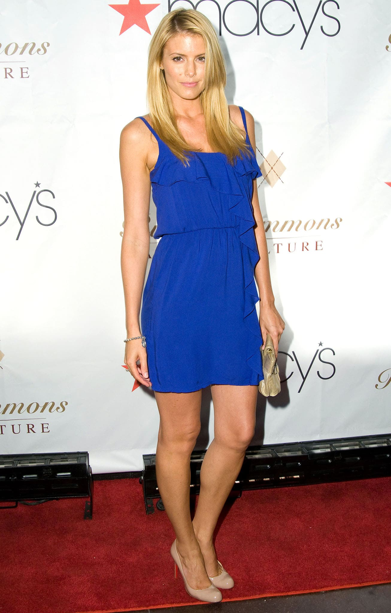 Paige Butcher flaunts her legs at Russell Simmons's ARGYLECULTURE Fall 2010 Menswear Presentation