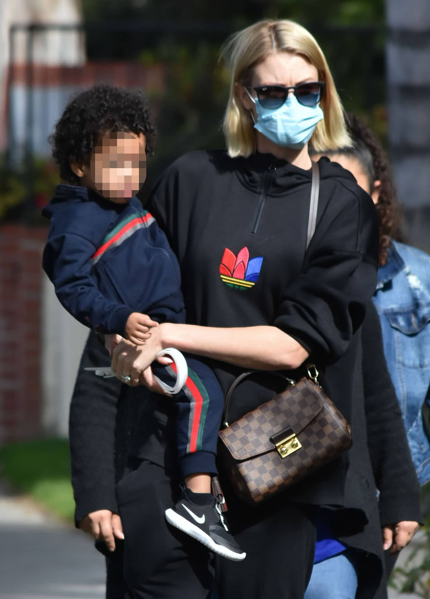 Paige Butcher steps out with son Max in Los Angeles on February 13, 2021