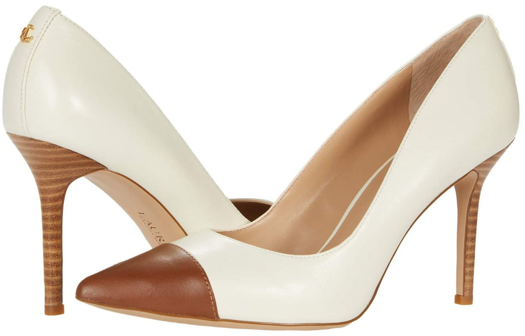These classic Lindella pumps are finished with contrasting cap toes for a modern look
