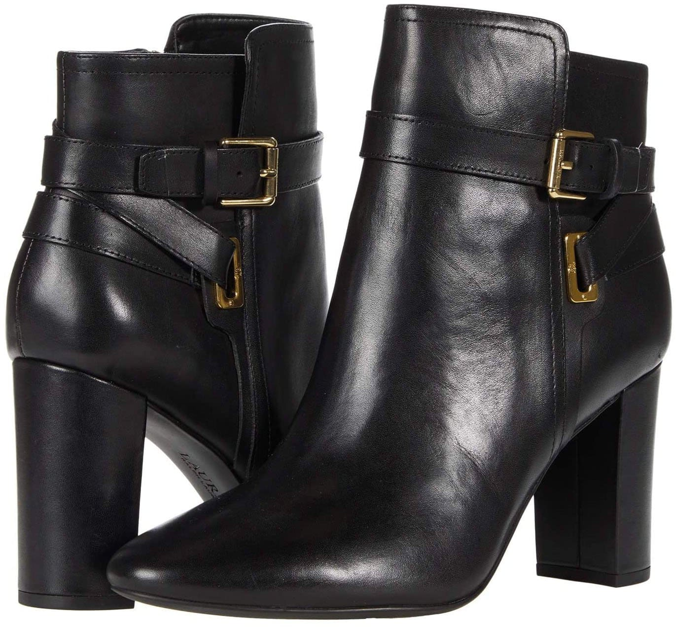 Sleek and chic, the Mackinley ankle boots feature a unique wrap-style buckled straps at the ankle