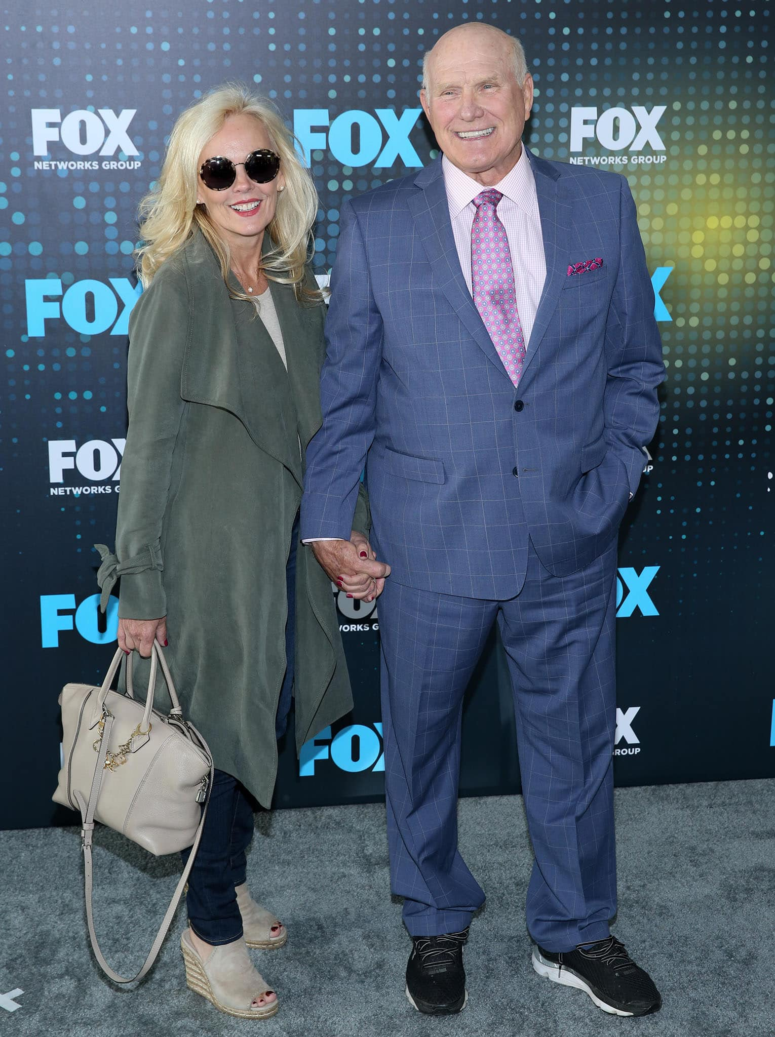 Tammy Bradshaw and Terry Bradshaw, pictured at the 2017 FOX Upfront, are involved in charitable organizations